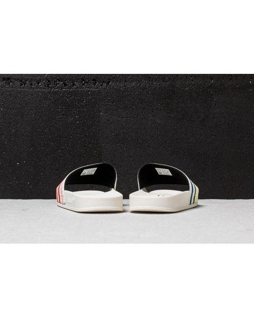 adidas Originals ADILETTE PRIDE - Pool sliders - core white/trace pink/trace orange kWsbs