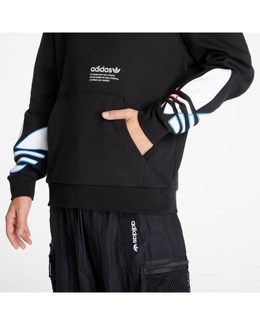 Adidas Originals Adidas Tricolor Trefoil Hoodie Black for men