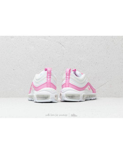 50f761bc6f60db ... Nike - W Air Max 97 Ess White  Psychic Pink - Lyst ...