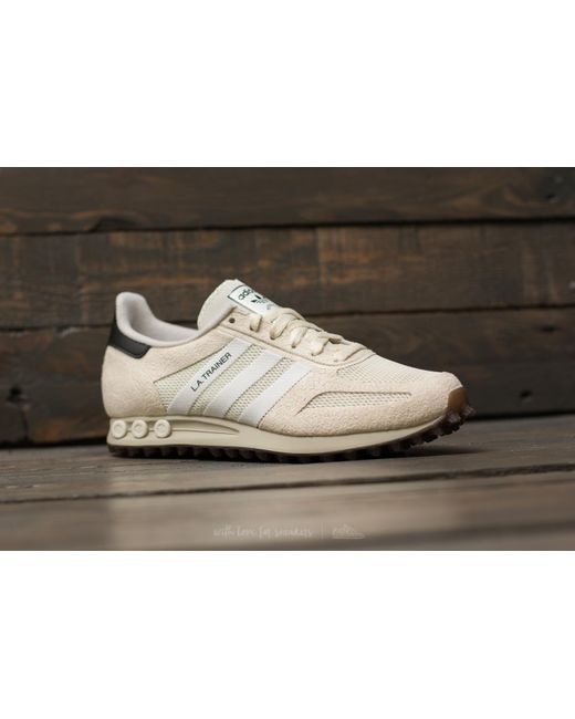 lyst adidas originali adidas la trainer og bianco / ftw bianco