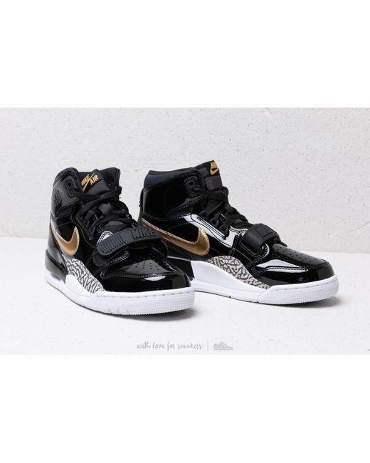17e58596231 ... Nike - Air Jordan Legacy 312 Black  Metallic Gold  White for Men - Lyst