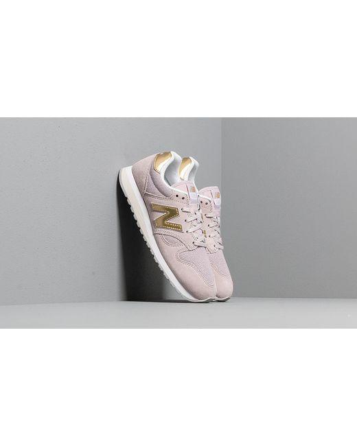 New Balance 574 Light Cashmere Metallic Silver Footshop