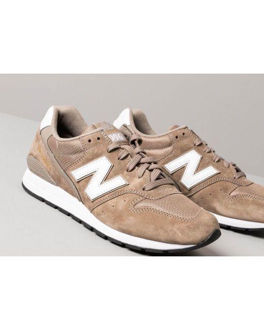 save off 697da 4103b ... New Balance - 996 Brown  White for Men - Lyst