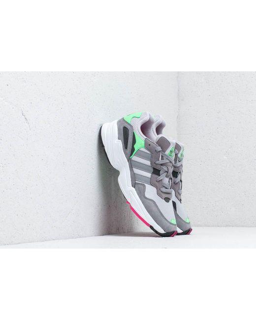 check out b506c 0cb44 Adidas Originals - Gray Adidas Yung-96 Grey Two  Grey Three  Shock Pink ...