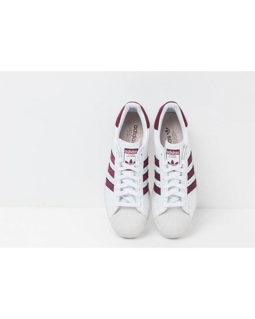 adidas Originals Leather Adidas Superstar 80s Ftw White