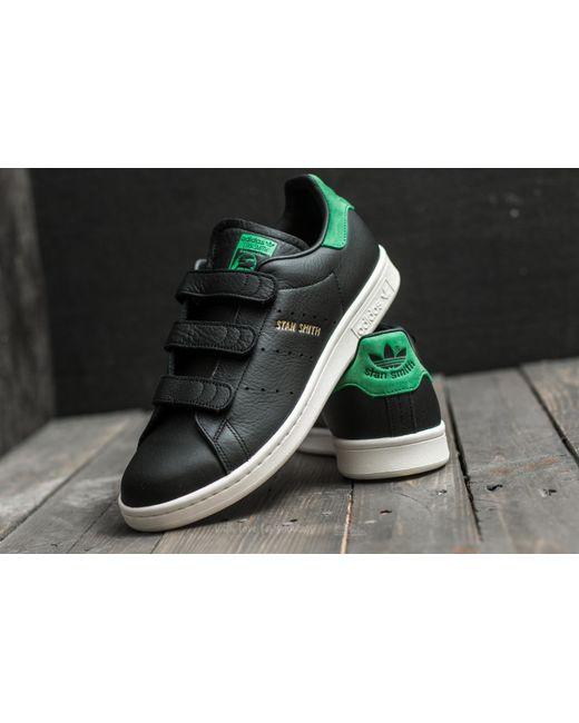 ... Adidas Originals | Adidas Stan Smith Cf Core Black/ Core Black/ Green  for Men ...