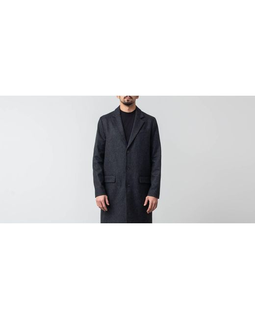 site réputé 86255 ee174 Men's Blue Manteau Majordome Coat Anthracite