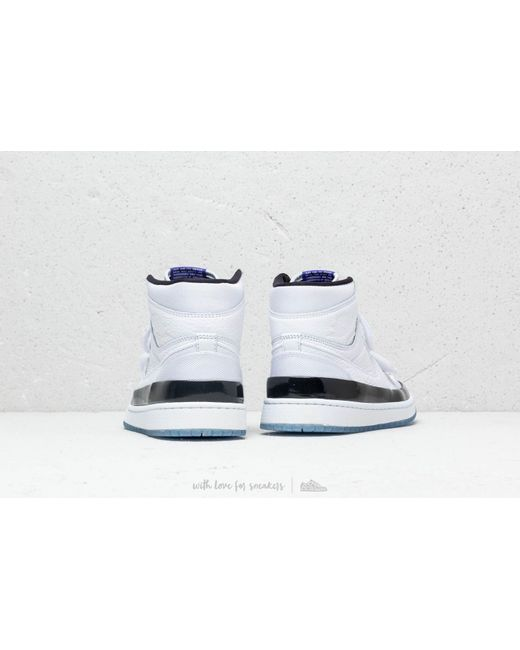 accaed1caf59 ... Nike - Air 1 Retro High Double Strap White  Dark Concord-black for Men  ...