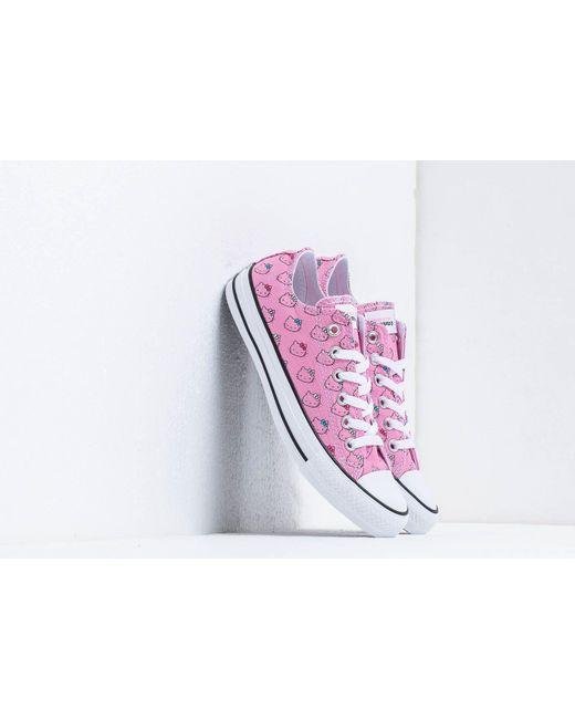 d0a1ec6cbb Converse - Pink X Hello Kitty Chuck Taylor All Star Rose - Lyst ...