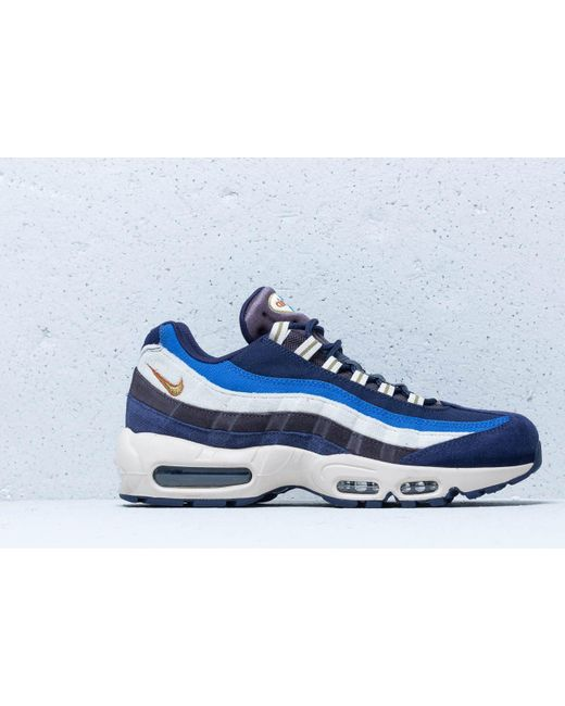 c92eee2ba3 ... Nike - Air Max 95 Premium Blackened Blue/ Camper Green for Men - Lyst  ...