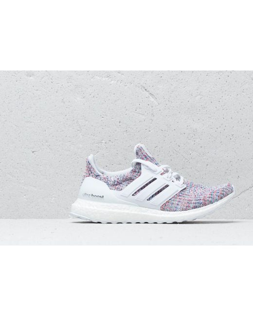 d5d15c601a4 ... Adidas Originals - Adidas Ultraboost Ftw White  Ftw White  Blue for Men  - Lyst ...