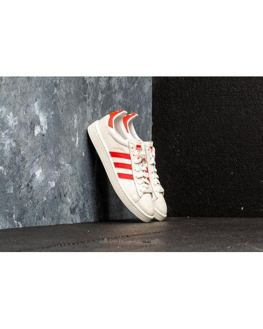 Adidas Originals - Multicolor Adidas Campus Cwhite/ Bold Orange/ Cwhite for Men - Lyst