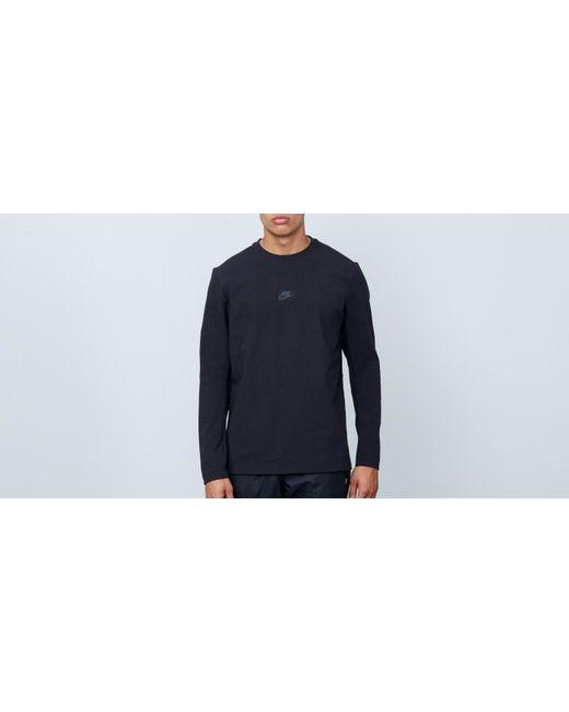80bee26a4 Nike - Sportswear Tech Pack Longsleeve Crewneck Black for Men - Lyst ...
