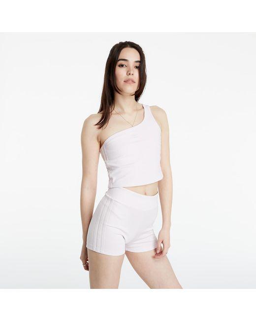 Adidas Originals White Adidas Tennis Asymmetric Top Pearl Amethyst