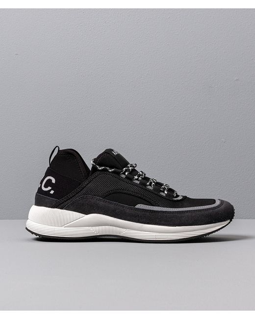 meet detailing good selling A.P.C. Running Homme Run Around Anthracite in Black for Men - Lyst