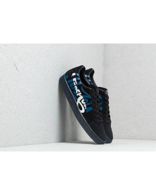 070ee99b62a Lyst - PUMA X Pepsi Suede Classic Black  Silver in Black for Men