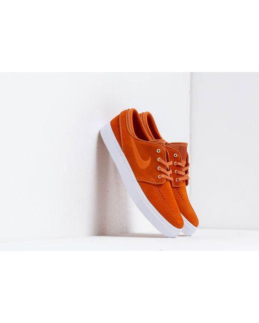 sports shoes b1cde 4156a Nike - Zoom Stefan Janoski Cinder Orange  Cinder Orange-white for Men - Lyst  ...