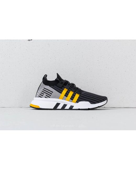 online store 0f31d f3be9 Adidas Originals - Adidas Eqt Support Mid Adv Primeknit Core Black Eqt  Yellow ...