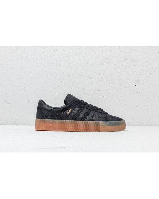 e9c45e1bd3c6 ... Footshop - Adidas Sambarose W Core Black  Core Black  Gum 3 - Lyst ...