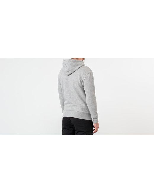 Tricolor Fox Patch Hoodie Grey Melange Maison Kitsuné pour homme en coloris Gray