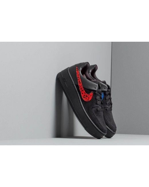 Women's W Air Force 1 Sage Lo Prm Black/ Habanero Red-racer Blue