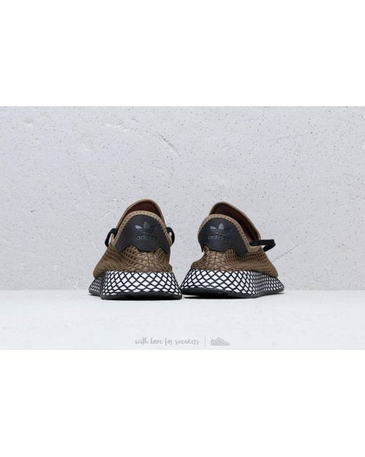 purchase cheap 51135 2b705 ... Adidas Originals - Adidas Deerupt Runner Rawkha Core Black Easora for  Men - Lyst ...