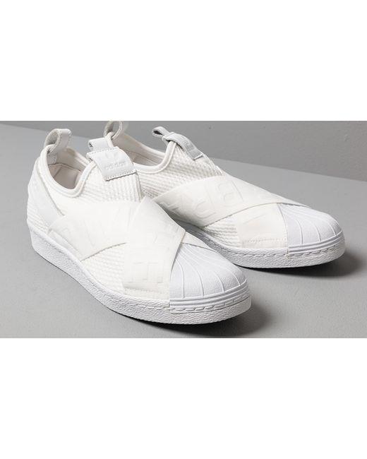 super popular 025db b546f Women's Adidas Superstar Slip-on W Ftw White/ Ftw White/ Core Black