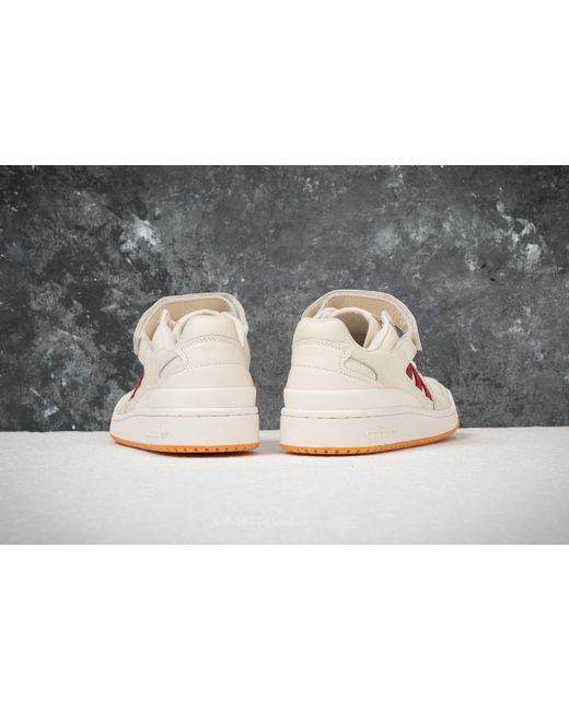 adidas Adidas Forum Low Chalk / Collegiate Burgundy/ Gum 1 RP1RO