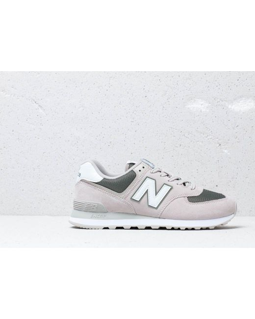 6f47876aa6 ... New Balance - 574 Beige/ Green/ White for Men - Lyst ...