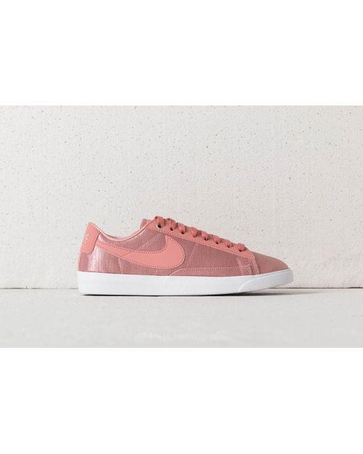 56bdbe05f43 Lyst - Nike W Blazer Low Se Rust Pink  Rust Pink-white in Pink ...
