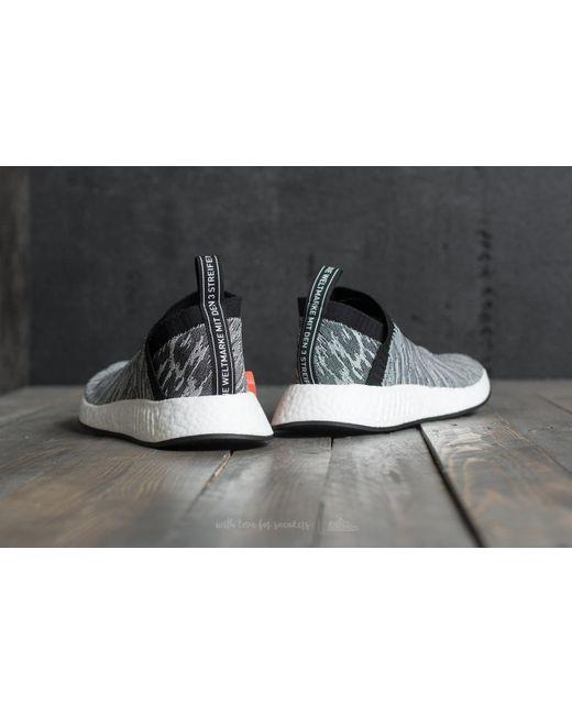 ... Adidas Originals | Adidas Nmd_cs2 Primeknit Grey/ Core Black/ Core Black/  Future Harvest ...