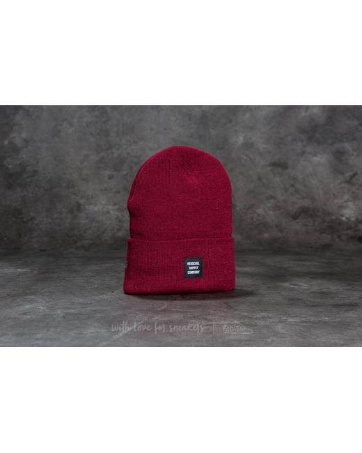 Herschel Supply Co. - Red Abbott Hat Windsor Wine - Lyst