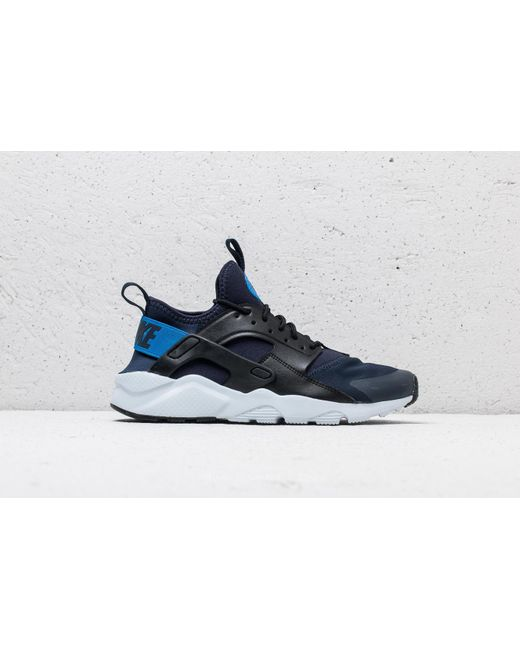 27880f3d4b62 ... czech nike air huarache run ultra gs obsidian signal blue black lyst  db32f eb252