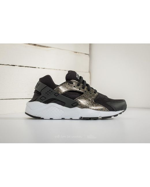 ... Nike - Huarache Run Se (gs) Black/ Black-metallic Gold - Lyst ...
