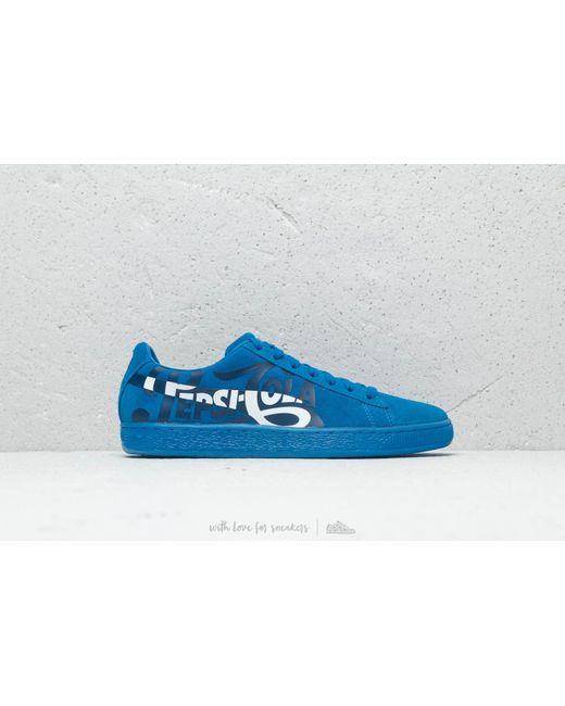 9ae8a8678d0c ... PUMA - X Pepsi Suede Classic Clean Blue  Silver for Men - Lyst ...