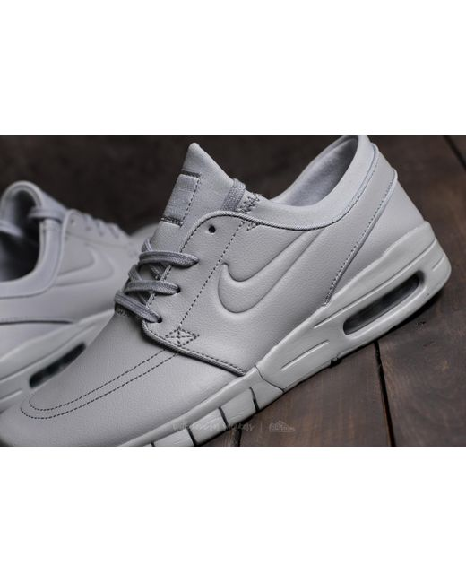 Nike Leather Stefan Janoski Max L Wolf Grey Wolf Grey in