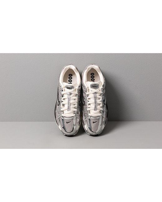 Nike Metallic Silver Sail P 6000 Shoes