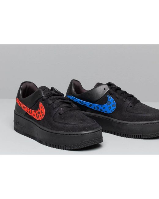 online store 4eca9 07f98 Women's W Air Force 1 Sage Lo Prm Black/ Habanero Red-racer Blue