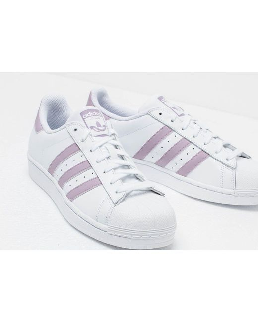 newest e1158 c9242 ... Adidas Originals - Adidas Superstar W Ftw White  Sofvis  Core Black -  Lyst