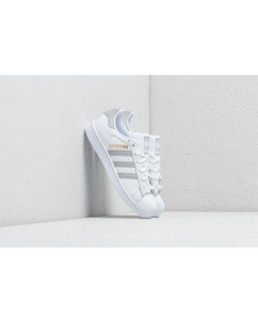 Adidas Originals - Adidas Superstar W Ftw White  Grey Two  Ftw White - Lyst  ... 40e7e0ec9