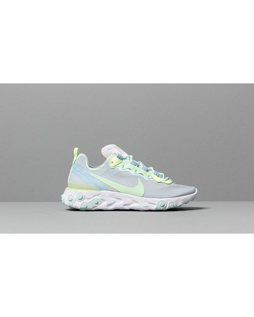 first look authentic promo code Nike W React Element 55 White/ Frosted Spruce-barely Volt - Lyst