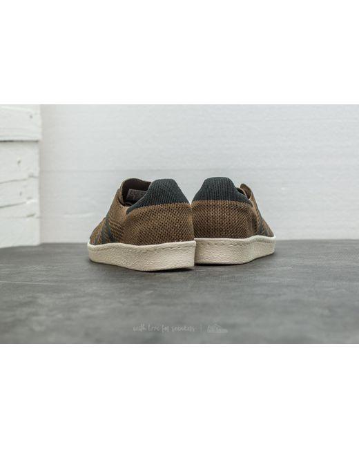 adidas Originals Mens Superstar 80s Primeknit Trainers Trace Olive/Core Black/Trace Cargo