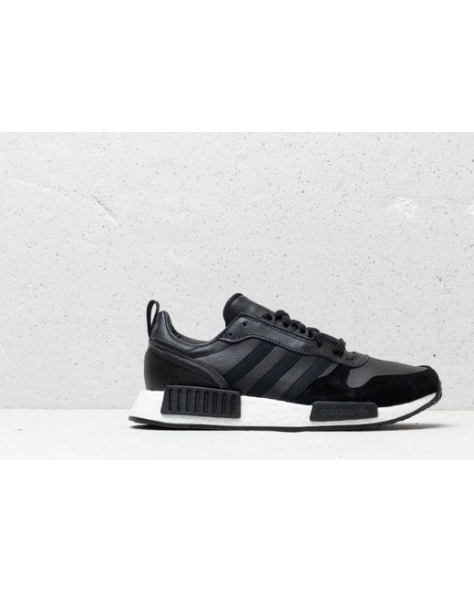 online store 7eff9 b4015 Men's Adidas Rising Star X R1 Core Black/ Utility Black/ Solar Red