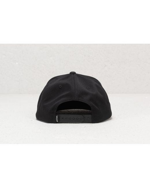 04f72dd09ff Lyst - Huf Essentials Box Black Mens Snapback Hat in Black for Men ...