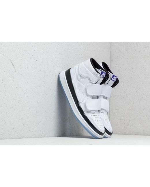 79c0b0acefad88 Nike - Air 1 Retro High Double Strap White  Dark Concord-black for Men ...