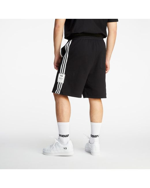 Y-3 3 Stripes Terry Shorts Black for men