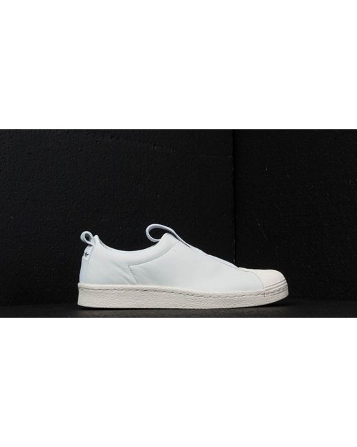 buy online 56c7f 5b632 Women's Adidas Superstar Bw3s Slipon W Crystal White/ Off White/ Core Black