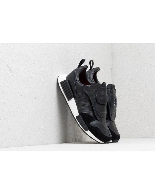 reputable site b13e8 d2696 Men's Adidas Micropacer X R1 Core Black/ Utility Black/ Solar Red