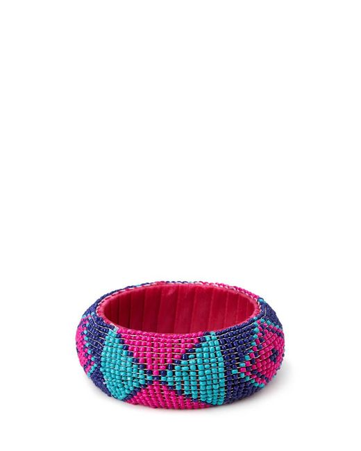 Forever 21 - Pink Bold Beaded Bangle - Lyst