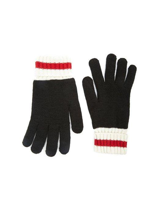 Gants côtelés aux couleurs contrastantes Forever 21 pour homme en coloris Black